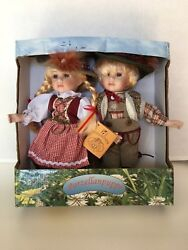 Porzellanpuppe Rf Collection, German Porcelain Dolls,,boy And Girl Set New, Tags
