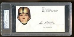 Don Holleder Signed Fdc Autographed Army West Point D1967 Psa/dna 6511