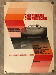 1965 Porsche 910 Prototype Spyder 2 World Records Showroom Poster Rare Awesome