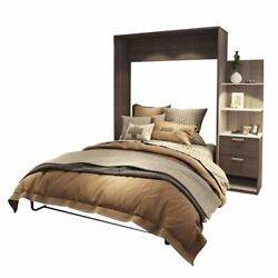 Atlin Designs 85 Queen Wall Bed Kit In Bark Gray And White