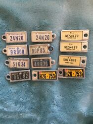 Miniature License Plate Collection Ontario New Jersey Ontario Set Of 12