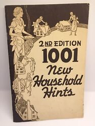 1938 1001 Household Tips Booklet Milwaukee Wisconsin 2nd Printing Ex Condition