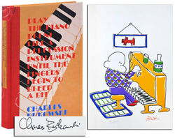 Charles Bukowski-play The Piano Drunk 1979-1st Deluxe Ed-1/100 Signed-fine