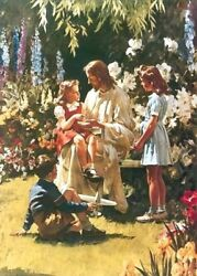 Harry Anderson What Happened To Your Hand 20x15 Jesus S/n Antique Paper Print