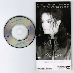 Michael Jackson Who Is It /rock With You Japan 3 Cd Single Esda7105 Not-snapped