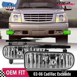 For Cadillac Escalade 02-06 Factory Bumper Replacement Fit Fog Light Clear Lens