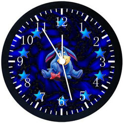 Winnie The Pooh Eeyore Black Frame Wall Clock Nice For Decor Or Gifts W375