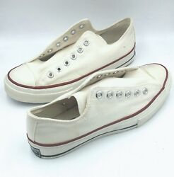 Vintage 70and039s Converse All-star Chuck Taylor Usa Blue Label. Size 7 Low Top