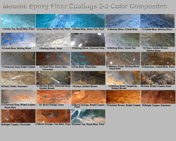 Metallic Mica Epoxy Concrete Garage Floor Countertop Paint Coating Pigment Kits