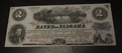 1860and039s 2 Units Banks Of Niagara N.y. Advertising Scrip- About Unc