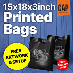 Personalised Retail Boutique Carrier Bags | Free Artwork | 15x18x3andrdquo Plastic Bags