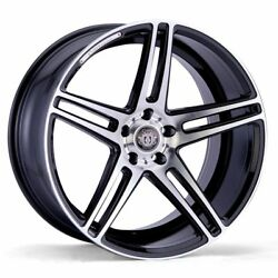 20x10.5 5x108 CURVA C5 BLACK MACHINE MADE FOR FORD JAGUAR VOLVO LOW OFFSET