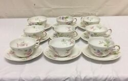 Theodore Haviland Limoges - 9 Place Setting France Fine China Cup Saucer Lot Vtg