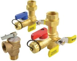 Hot Cold Relief Service Valves Brass Leak Proof Tankless Water Heater Compatible
