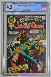 Supermanand039s Pal Jimmy Olsen 134 Cgc 4.5 Ow First Appearance Of Darkseid 12/70