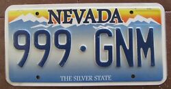 Nevada 2006 Triple Number License Plate 999-gnm