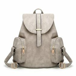 100% Waterproof Leather Casual Backpack for Women- Fashion Shoulder Bag for Girl