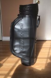 PORSCHE DESIGN Full Leather Caddy Club golf bag.NEVER USED!