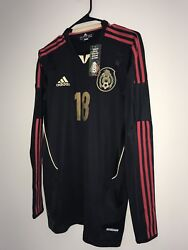 Adidas Mexico Player Issue Long Sleeve Techfit Away Soccer Jersey A Guardado 8