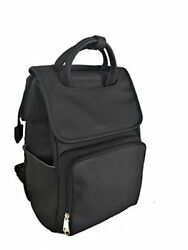 Citi Babies Black Faux Leather Diaper Bag Backpack - Vegan Leather Diaper Bag...