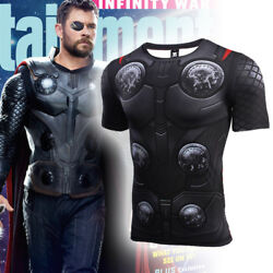Avengers Infinity War Thor T Shirts Halloween Cosplay Costume Men Summer Top Tee