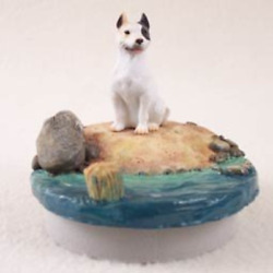 Conversation Concepts Miniature Pit Bull Terrier White Candle Topper Tiny One