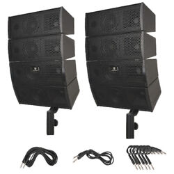 Proreck 4x4 Passive Line Array Speaker System Sets With Connecting Cables