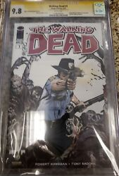 The Walking Dead 1 2013 Portland Wizard Cgc Ss 9.8 Signed By Michael Golden