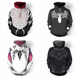 Spider-Man Panther Super Hero Spiderman Cosplay Casual Hoodie Sweater Pullover