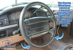 1992 1993 1994 1995 1996 Ford Bronco -leather Wrap Steering Wheel Cover Black