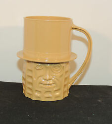 Mr. Peanut Tan Plastic Cup Over 3 Inches Tall 13790