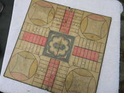 Extremely Rare Parcheesi Game Board, 1869 1874 First Edition. Full Set -read
