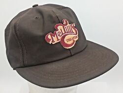 Vtg Mel Tillis Theatre Sewn Patch Front Made In Usa Brown Snapback Trucker Hat