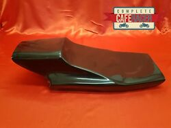 Trackmaster With Cat Eye Style Fibreglass Cafe Racer Seat Finished In Black