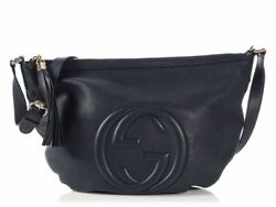 GUCCI Navy Soho Messenger Bag Purse ~ Ready to load up and go!