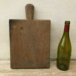 Antique Vintage French Bread Or Chopping Cutting Board Wood Thick 07061810