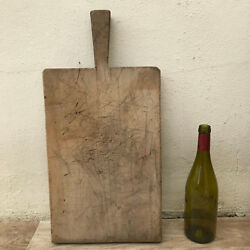 Antique Vintage French Bread Or Chopping Cutting Board Wood Thick 07061811