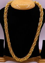 22 K GOLD FOX TAIL STYLE LINK CHAIN AWESOME HEAVY WEIGHT CHAIN UNIQUE DESIGN