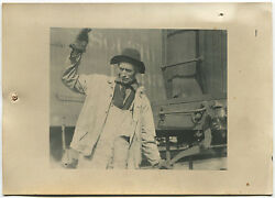 Lewis Hine Cowboy Of The Yards Ny Central Railroad Lines 1921 /vintage/ Lh062