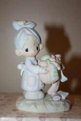 Be Not Weary In Well Doing Precious Moments Figurine Girl With Laundry Basket