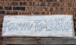 Primitive Wooden Farm To Table Wall Art Farmhouse Country Style Home/wall Decor
