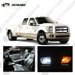 13x White Led Interior Lights Bulbs Package Kit Fit 05-2014 Ford F250-f550 Hst