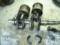 1981 Johnson 35 Hp 2 Stroke Crank 323000 Connecting Rod And Pistons Bearings