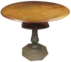 Antique American Poker Game Card Table W/cast Iron Base   G.r. Butler