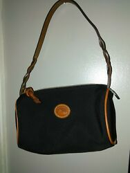 Authentic Dooney and Bourke Nylon and Leather Mini Barrel Bag NWOT