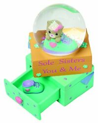 Precious Moments Sole Sisters You Me Resin Figurine Snow Globe Cat 154440