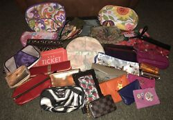 Lot of 31 New & Used Travel Cases Cosmetic Bags Wallets Coin Purses Sm. Handbags