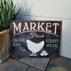 Kitchen Sign - Retro Vintage Styled - Chicken Eggs Market