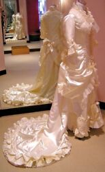 Hand Made Victorian Style Wedding Dress Size 6 NEW with Exquisite Details