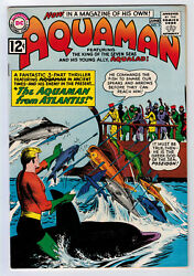 Aquaman 3 8.5 High Grade 1962 Off-white/white Pages B